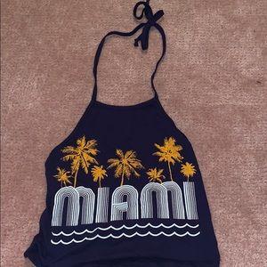 fashion nova blue Miami halter